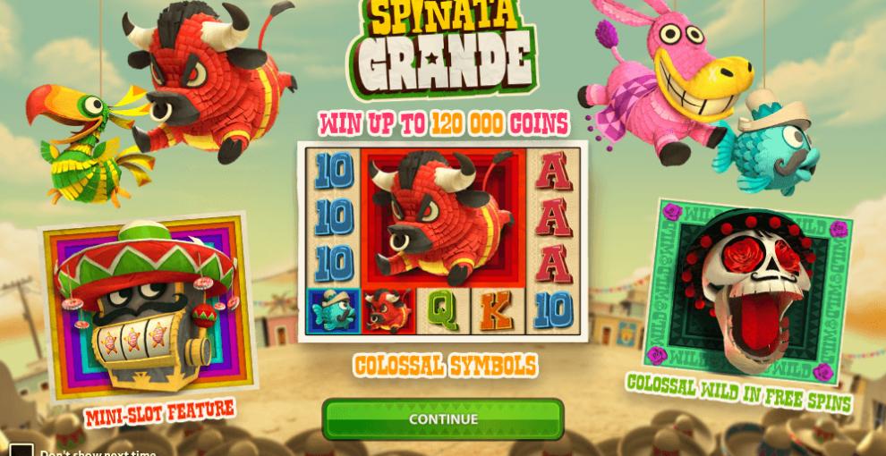 Dê o seu melhor com o jogo de slots Spiñata Grande
